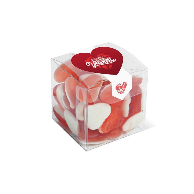 Valentines – Clear Cube – Haribo Heart Throbs