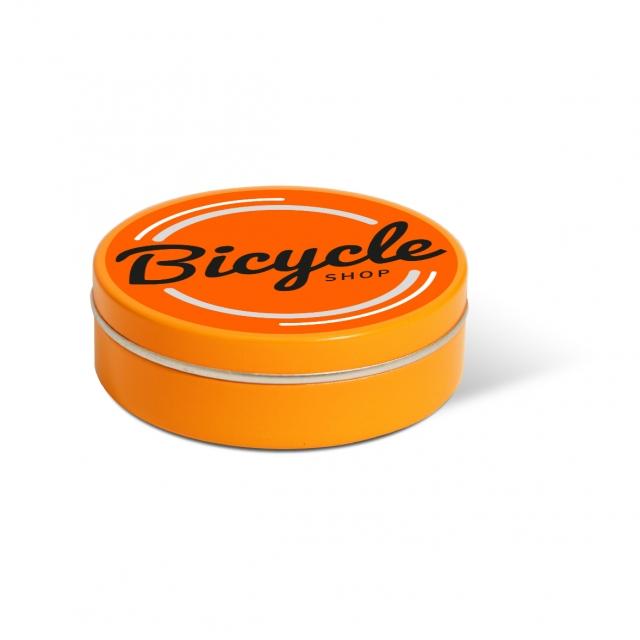 XS Peppermint Tin – Orange – Paper Label