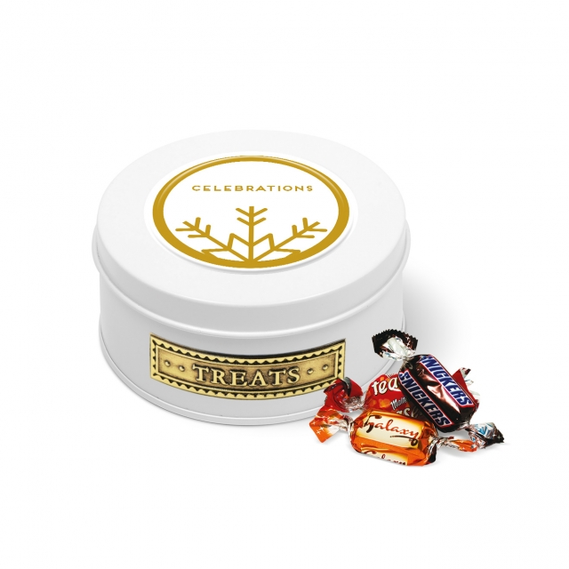 Winter Collection – Treat Tin – White – Celebrations