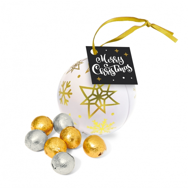 Bauble Tin – Foiled Chocolate Balls
