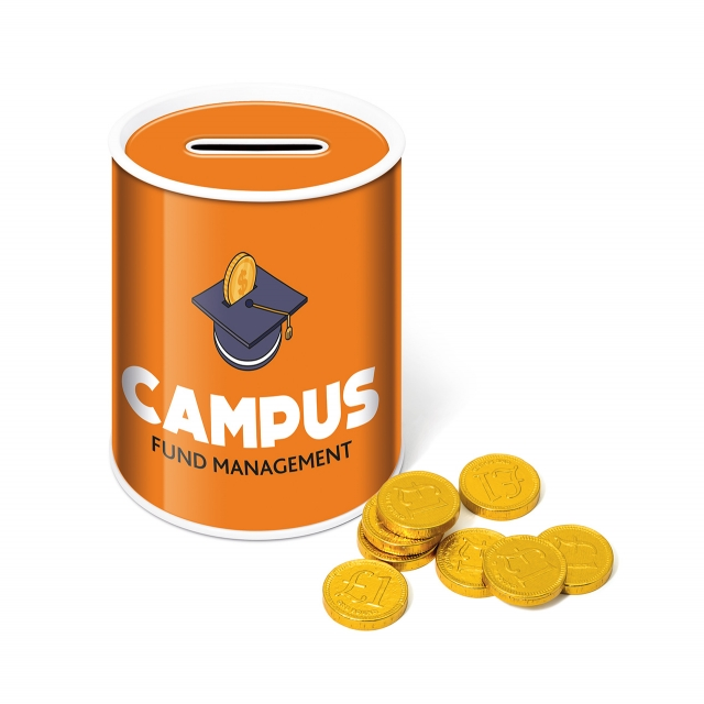 Money Tin – Chocolate Coins